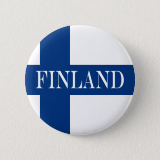 Flag of Finland Blue Cross Suomi 2 Inch Round Button