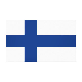 Flag of Finland Blue Cross Suomi Canvas Print