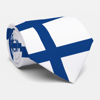 Flag of Finland Blue Cross Suomi Tie