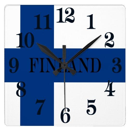 Flag of Finland Blue Cross Suomi Wallclocks