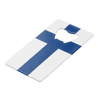 Flag of Finland Blue Cross Suomi Wallet Bottle Opener