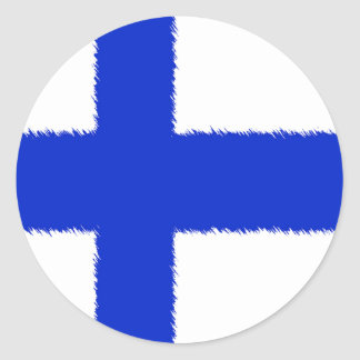 Flag of Finland Classic Round Sticker