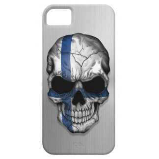 Flag of Finland on a Steel Skull Graphic Case For The iPhone 5