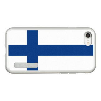 Flag of Finland Silver iPhone Case