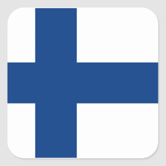 Flag of Finland Square Sticker