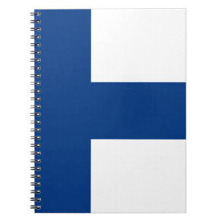 Flag of Finland - Suomen lippu - Finlands flagga Spiral Note Books