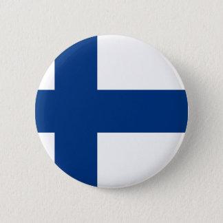 Flag of Finland - Suomen lippu - Finnish Flag 2 Inch Round Button