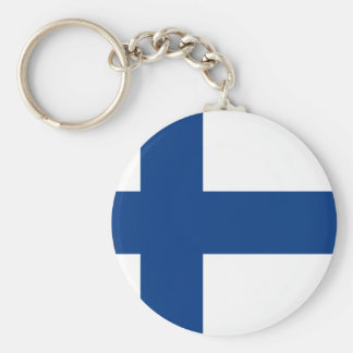 Flag of Finland - Suomen lippu - Finnish Flag Keychain