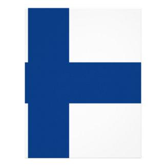 Flag of Finland - Suomen lippu - Finnish Flag Letterhead