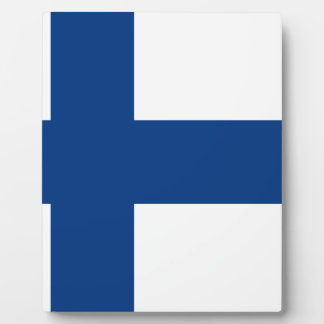 Flag of Finland - Suomen lippu - Finnish Flag Plaque