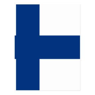 Flag of Finland - Suomen lippu - Finnish Flag Postcard