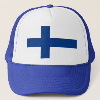 Flag of Finland - Suomen lippu - Finnish Flag Trucker Hat