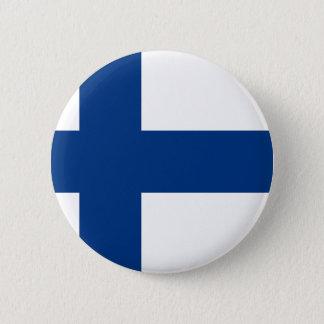 Flag of Finland - Suomen Lippu - Siniristilippu 2 Inch Round Button