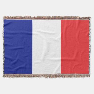Flag of France French Tricolore Throw Blanket
