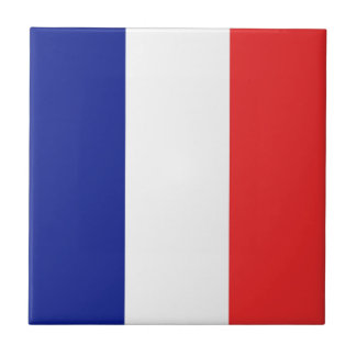 Flag of France French Tricolore Tile