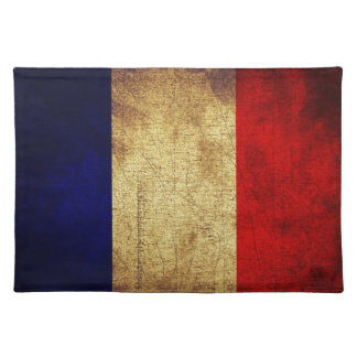 Flag of France Grunge Place Mat