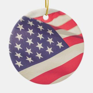 Flag of Freedom Ceramic Ornament