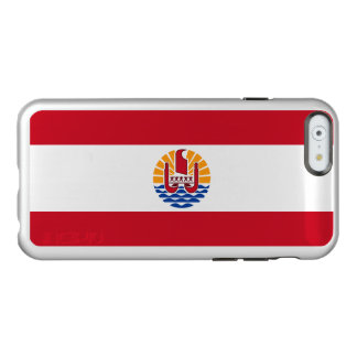 Flag of French Polynesia Silver iPhone Case