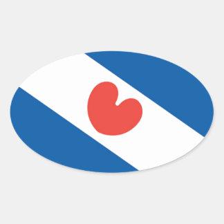 Flag of Friesland Oval Sticker
