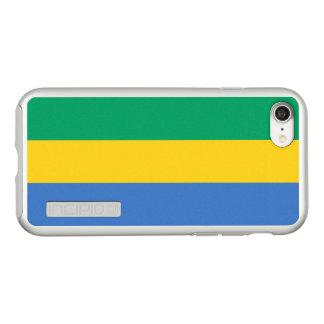 Flag of Gabon Silver iPhone Case