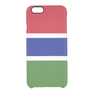 Flag of Gambia Clear iPhone Case