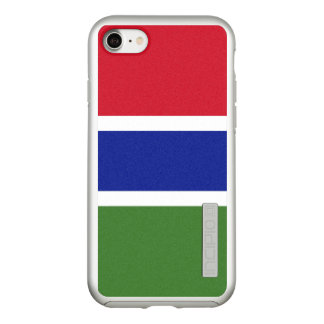 Flag of Gambia Silver iPhone Case