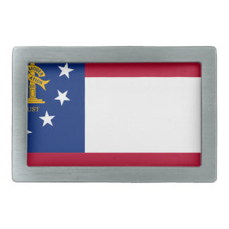 Flag Of Georgia Belt Buckle