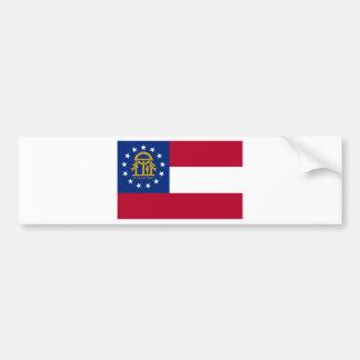 Flag Of Georgia Bumper Sticker