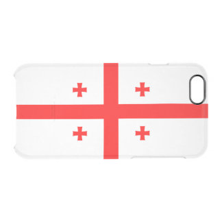 Flag of Georgia Clear iPhone Case