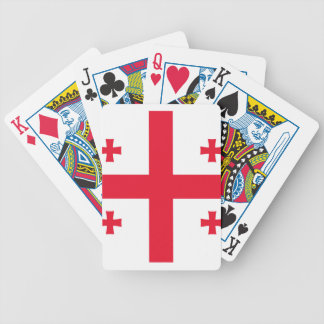 Flag of Georgia (country) - Poker Deck