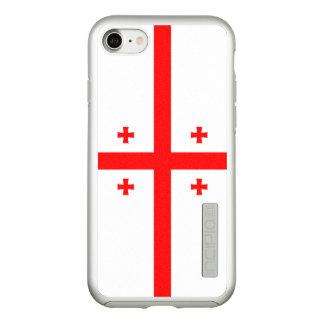 Flag of Georgia Silver iPhone Case