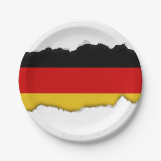 Flag of Germany 7 Inch Paper Plate