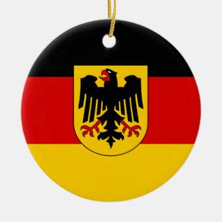 Flag of Germany - Bundesdienstflagge Round Ceramic Ornament