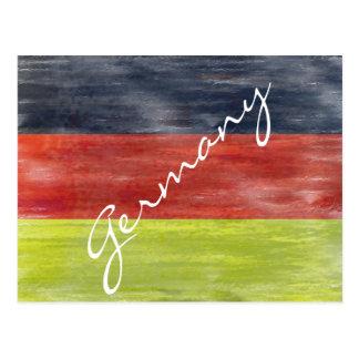 Flag of Germany - German Flag - Personalise Postcard