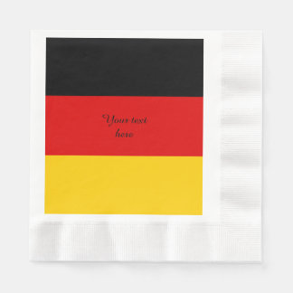 Flag of Germany or Deutschland Disposable Napkins