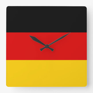 Flag of Germany or Deutschland Square Wall Clock