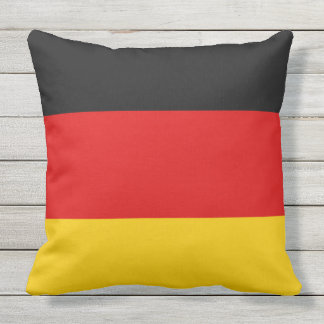 Flag of Germany or Deutschland Throw Pillow