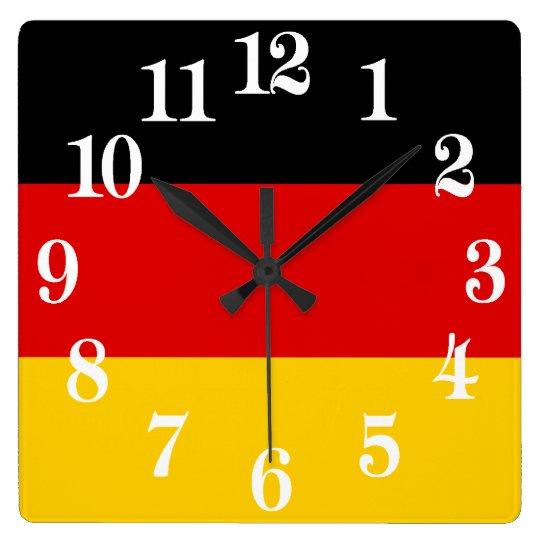 Flag of Germany or Deutschland Wallclock