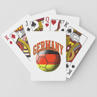 Flag of Germany Soccer Ball Playing Cards