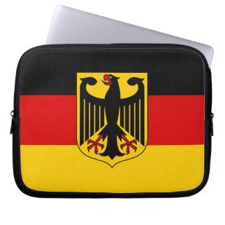 Flag of Germany with Crest Computer Sleeves