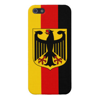 Flag of Germany With Crest Savvy iPhone 5 Glossy iPhone 5/5S Cases