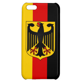 Flag of Germany With Crest Savvy iPhone 5 Glossy iPhone 5C Cases