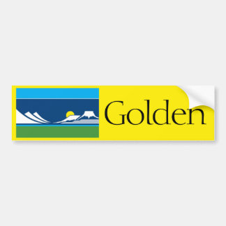 Flag of Golden, Colorado bumper sticker