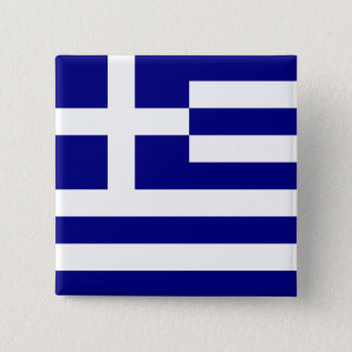 Flag of Greece 2 Inch Square Button