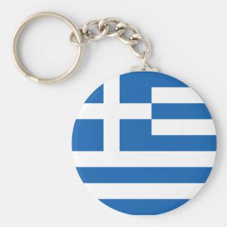 Flag of Greece Basic Round Button Keychain