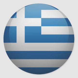 Flag of Greece Classic Round Sticker