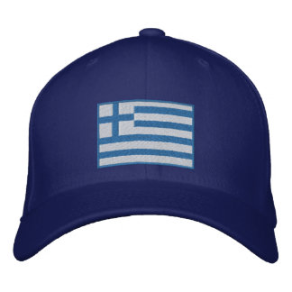 Flag of Greece Customizable Embroidered Hat