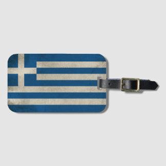 Flag of Greece Grunge Luggage Tag