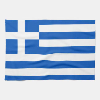 Flag of Greece Hand Towels