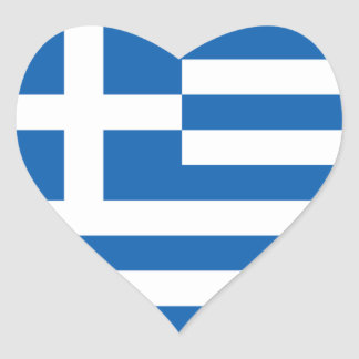 Flag of Greece Heart Sticker
